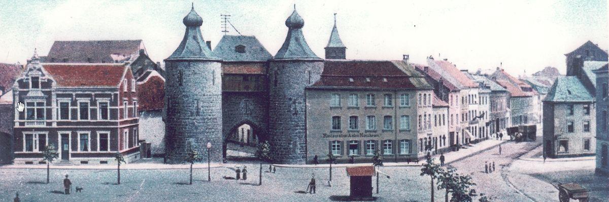Hexenturm mit Restauration »Anton Nussbaum« um 1900