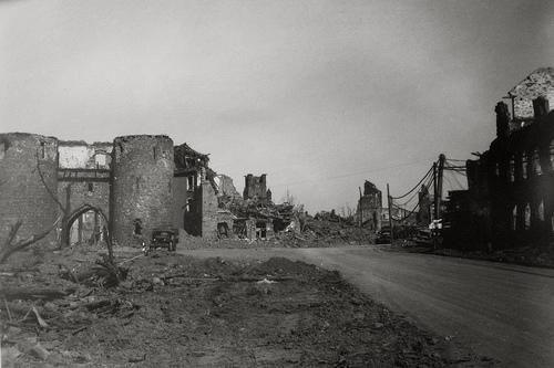 So sah es nach der Zerbombung Jülichs am 16.11.1944 aus